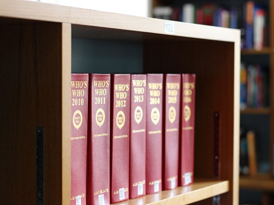 Library - red books image