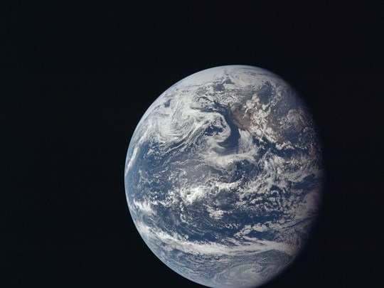 Climate Change - Apollo 11 satellite image