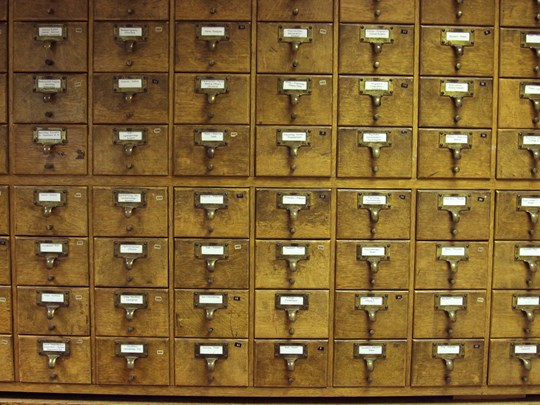 Library - archives drawers