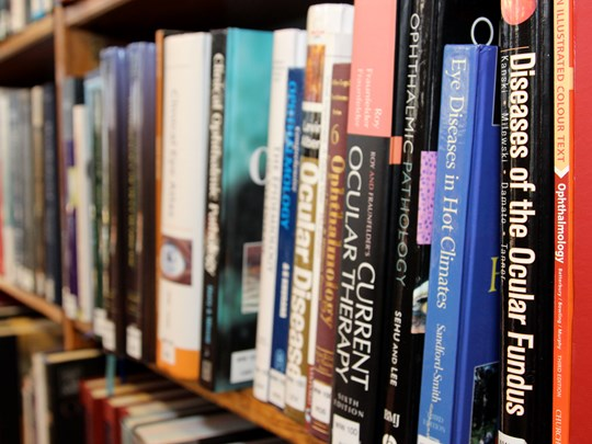 Library - close up of books